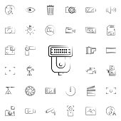 flash for camera outine icon. Photo and camera icons universal set for web and mobile