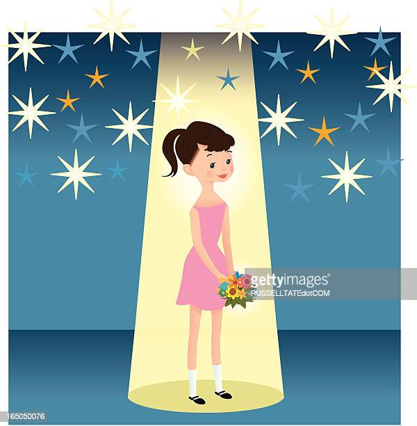 flash light girl - beauty contest stock illustrations