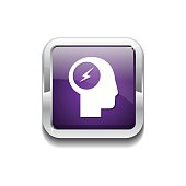 Flash Purple Vector Icon Button