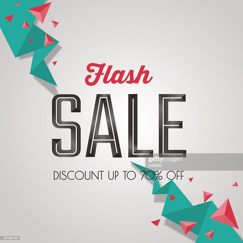 Flash sale, discount special offer banner template. Web advertising promotion.
