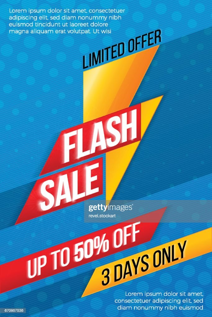 Flash sale price offer deal vector labels templates stickers des