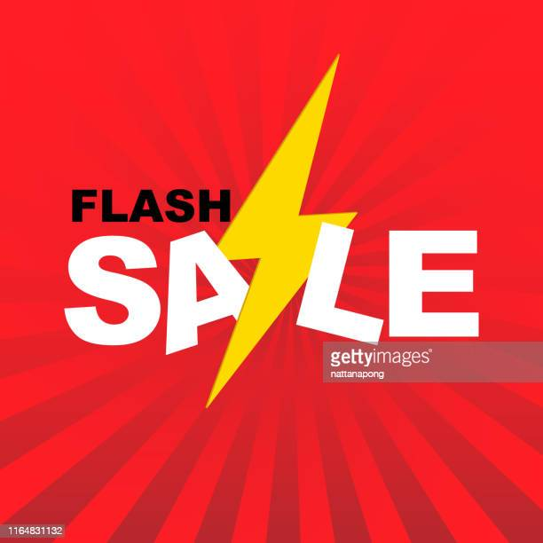 flash sale sign or symbol for sale banner - flash stock illustrations