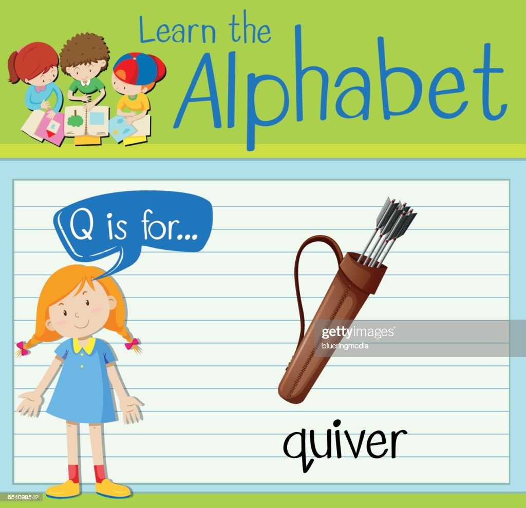Flashcard letter Q is for quiver