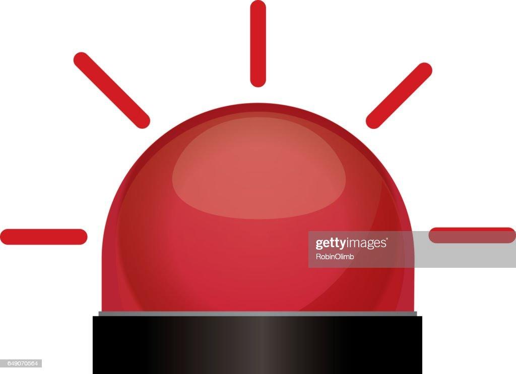 Flashing Red Light : Vector Art