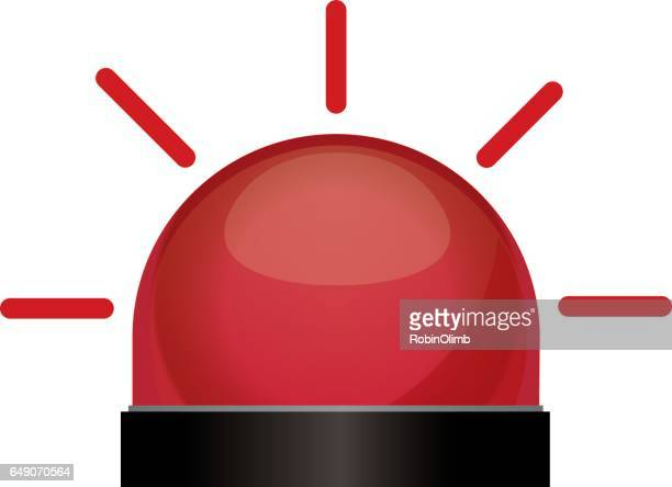 flashing red light - alertness stock illustrations