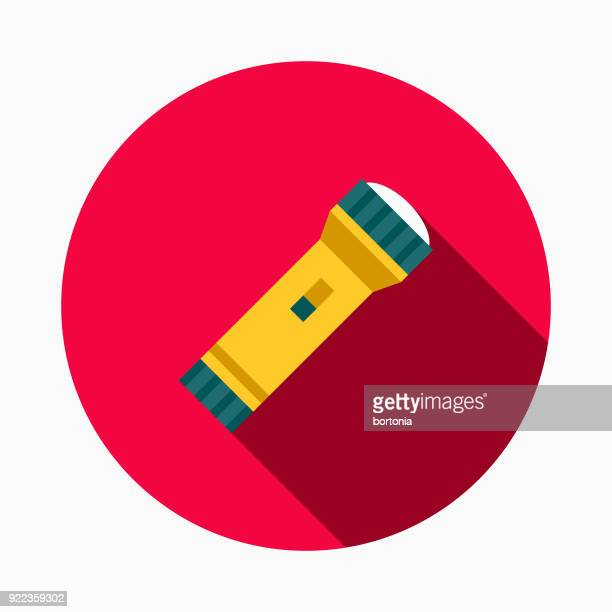 flashlight flat design home improvement icon - flashlight stock illustrations, clip art, cartoons, & icons