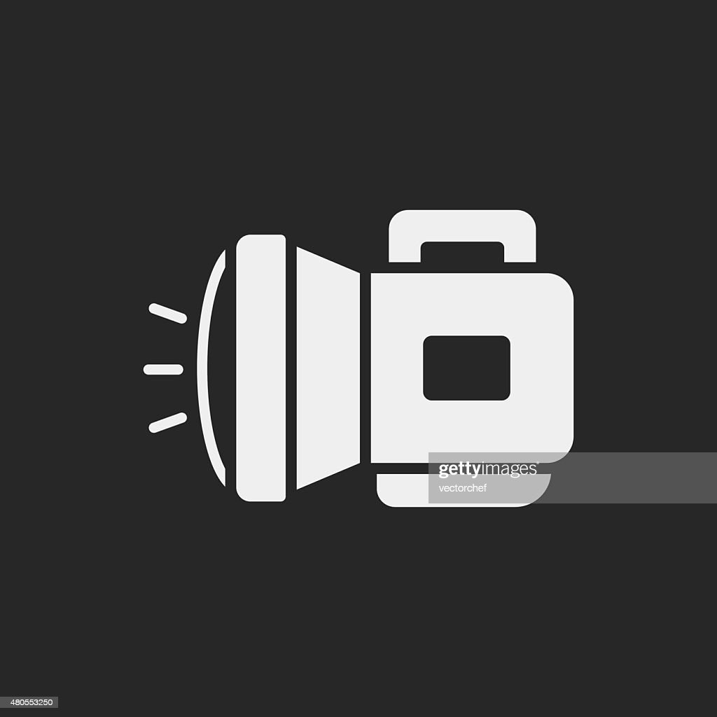 flashlight icon : Vector Art