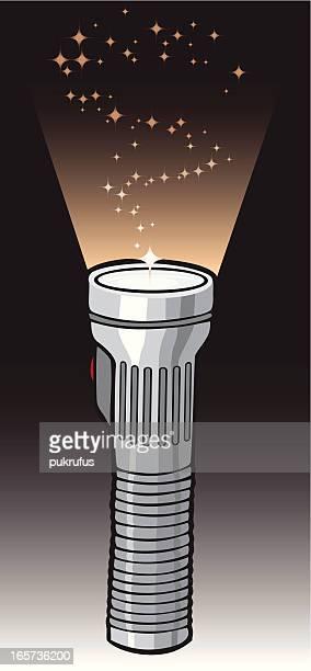 flashlight in color - flashlight beam stock illustrations, clip art, cartoons, & icons