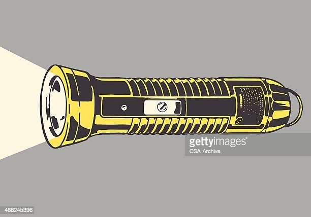 flashlight - flashlight stock illustrations, clip art, cartoons, & icons