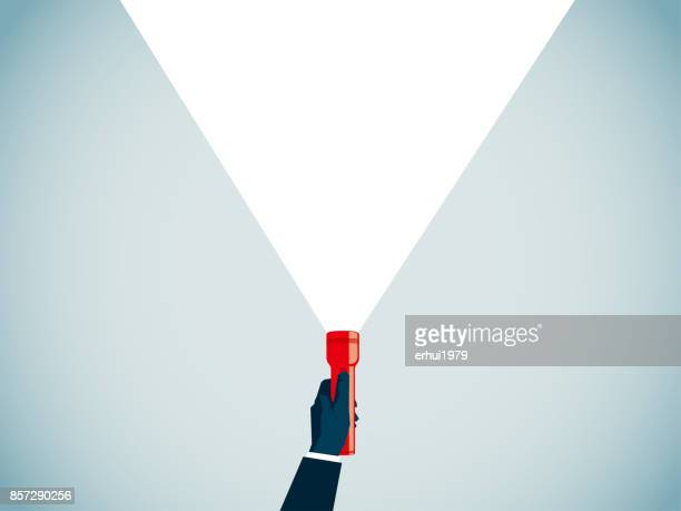 flashlight - searching stock illustrations