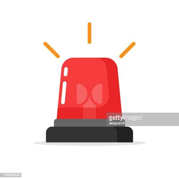 懐中電灯、警告アラームライト、サイレンライトフラットデザインベクトル設計。 - 警報機点のイラスト素材/クリップアート素材/マンガ素材/アイコン素材
