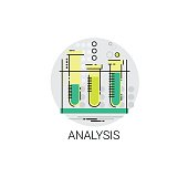 Flask Chemistry Reaction Analysis Experiment Icon