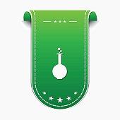 Flask Icon Green Vector Icon Design