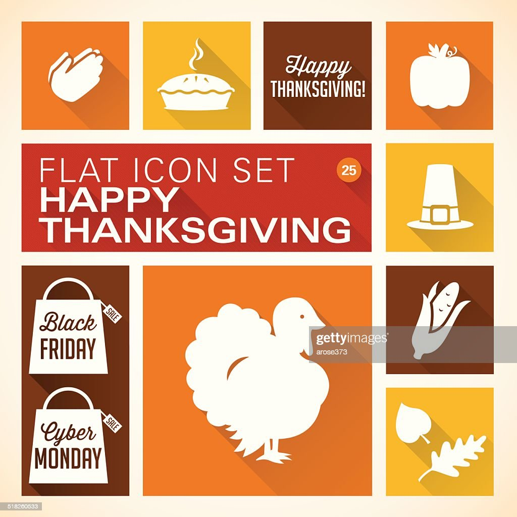 Flat 25 - Thanksgiving Icons