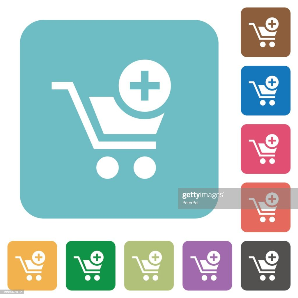 Flat add to cart icons