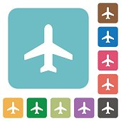 Flat airplane icons