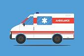 Flat ambulance car