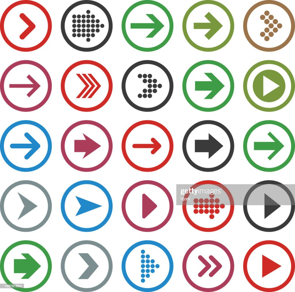 Flat arrow icons.