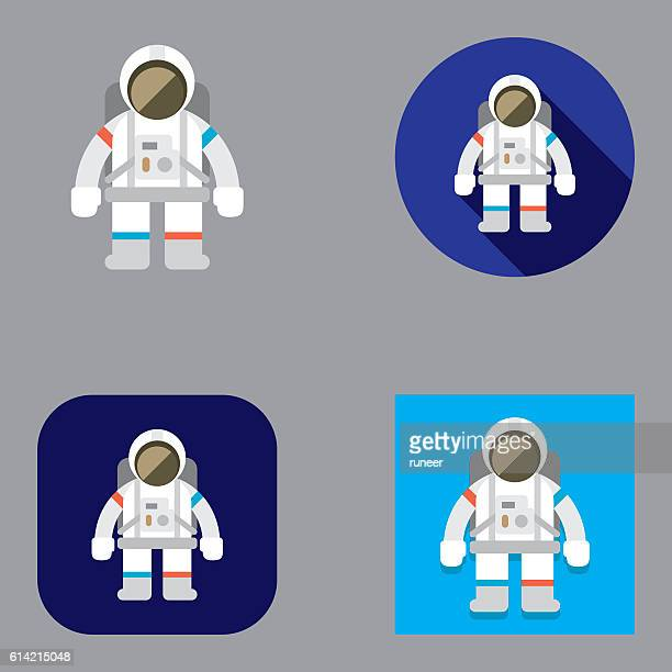 Flat Astronaut icons | Kalaful series