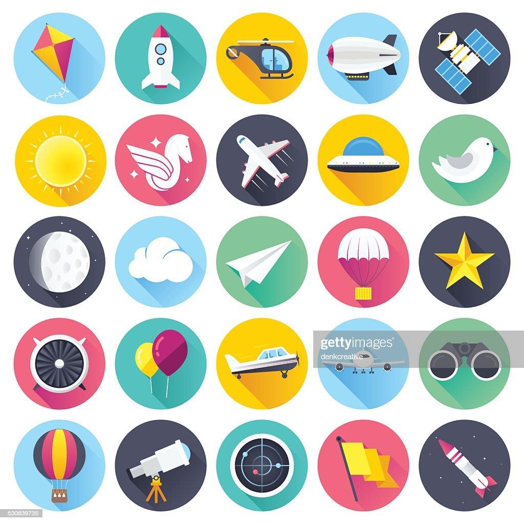 Flat Aviation Icons