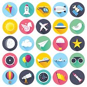 Flat Aviation Icons