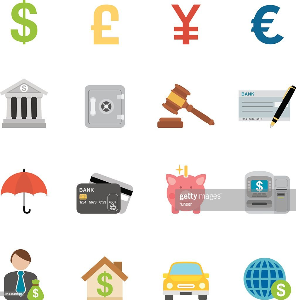 Flat Banking & Finance icons | Simpletoon series