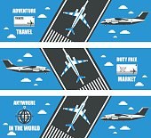 flat banners airport