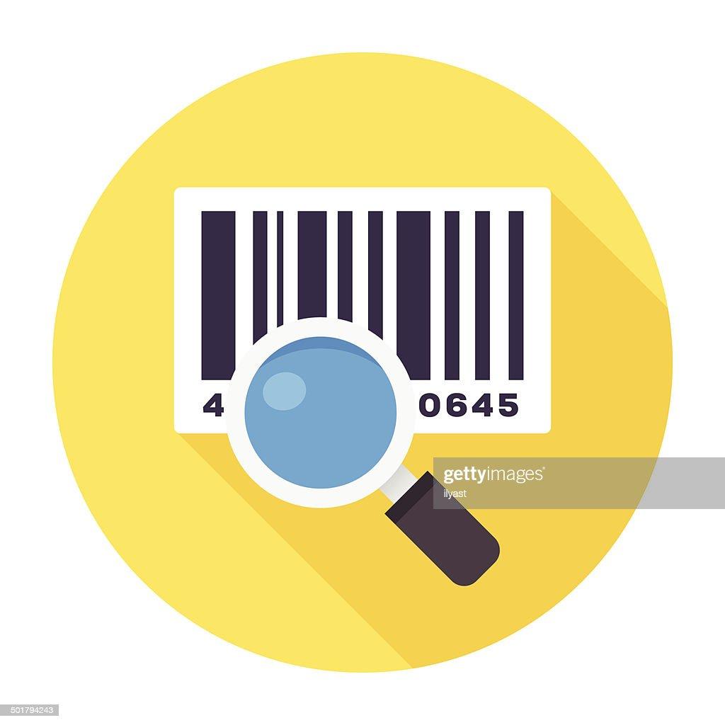 Flat Barcode Reader Icon