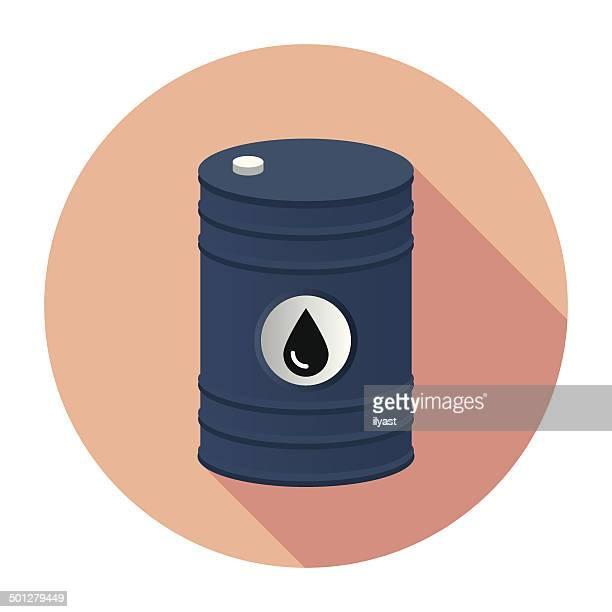 flat barrel icon - oil drum stock illustrations, clip art, cartoons, & icons