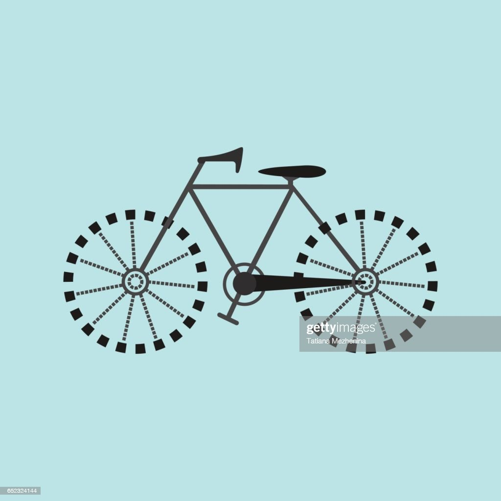 Flat Bicycle Icon