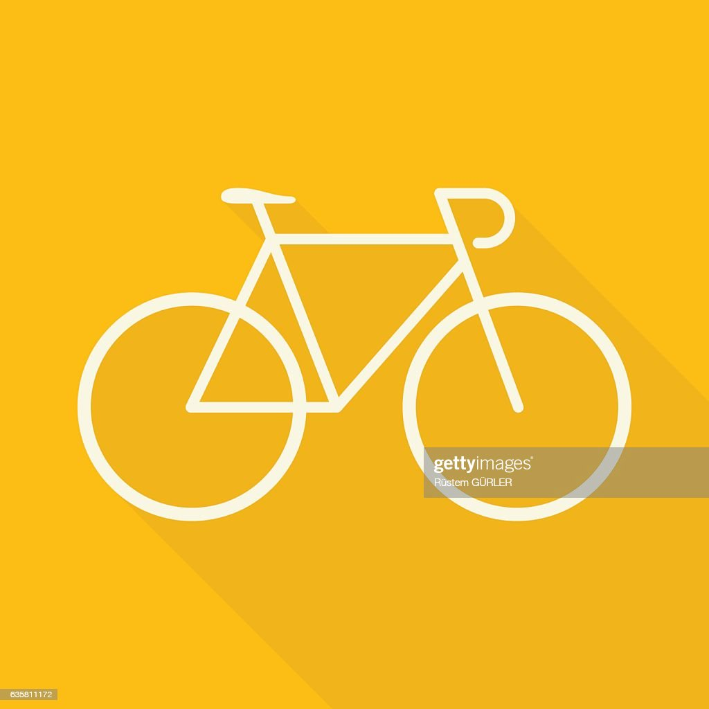 Flache Fahrrad : Stock-Illustration