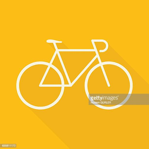 flat bicycle - bicycle stock illustrations