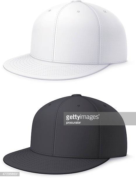 flat bill cap - cap hat stock illustrations, clip art, cartoons, & icons