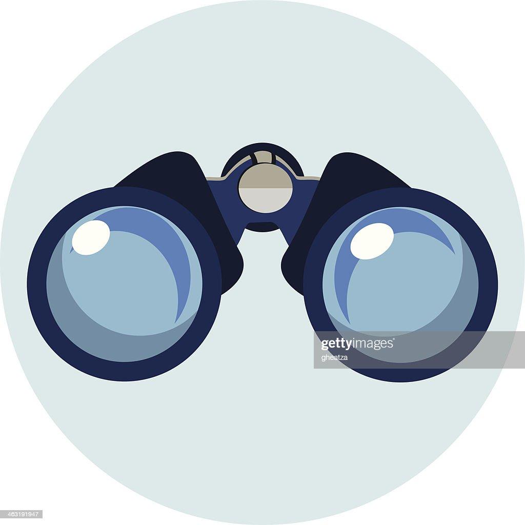 Flat Binocular Icon