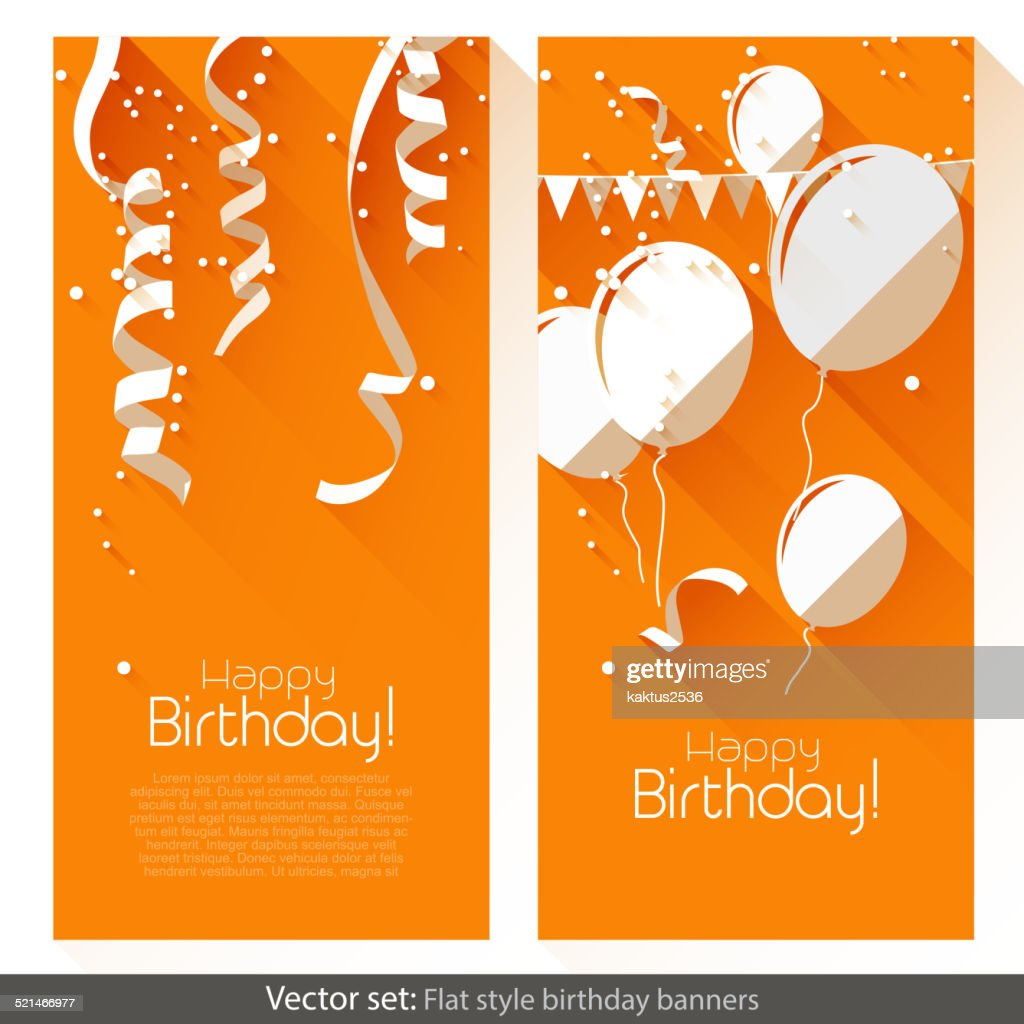 Flat Birthday banners