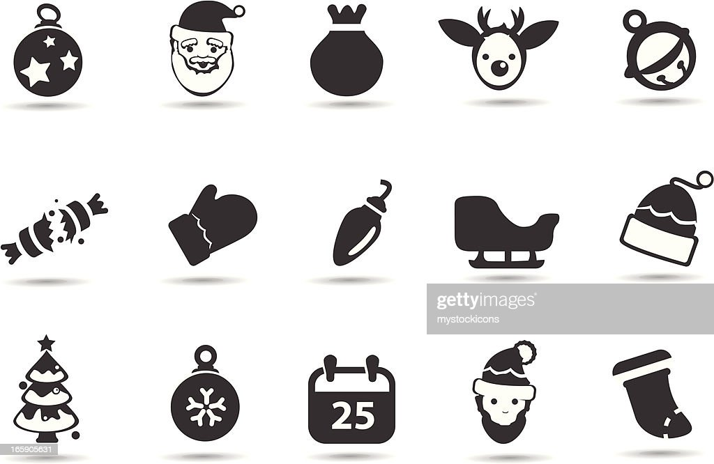 weihnachten symbole vektorgrafik getty images. Black Bedroom Furniture Sets. Home Design Ideas