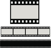 Flat blank filmstrip