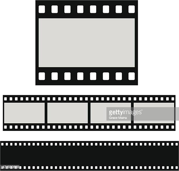 ilustraciones, imágenes clip art, dibujos animados e iconos de stock de blanco filmstrip plana - rollo de cine