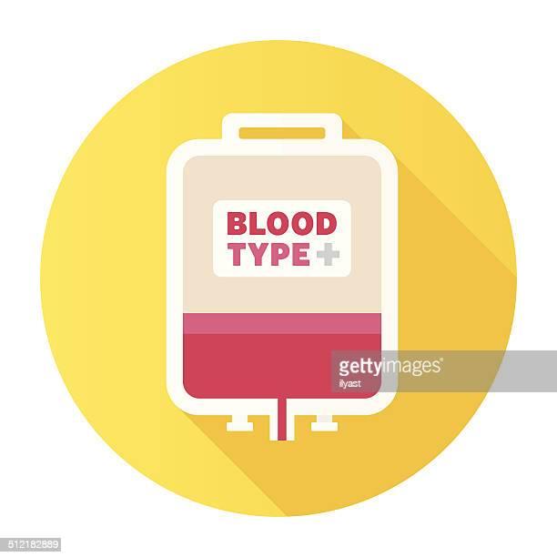 flat blood bag icon - blood bank stock illustrations