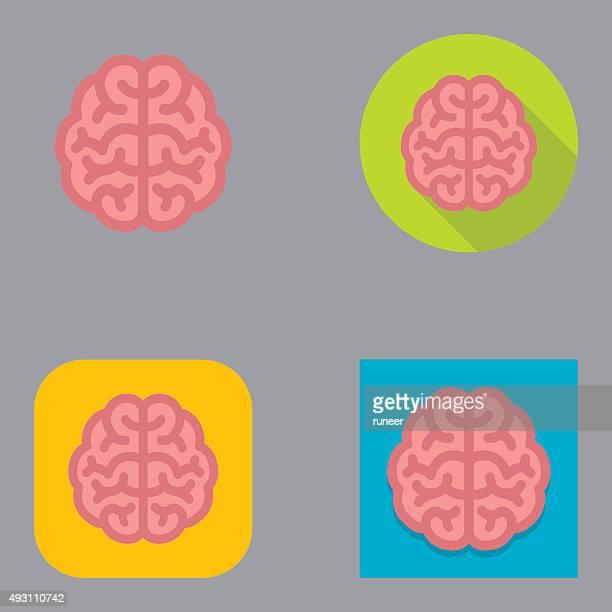 Flat Brain icons | Kalaful series
