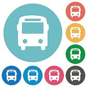 Flat bus icons