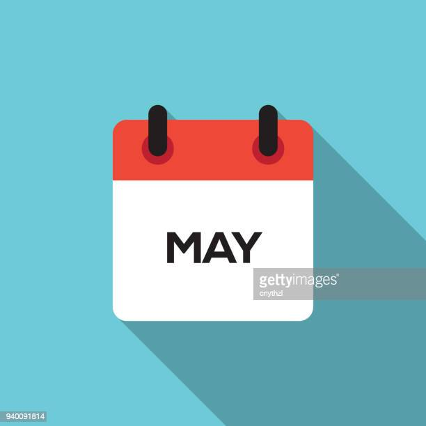 フラット カレンダーのデザイン - 2019 - 五月点のイラスト素材/クリップアート素材/マンガ素材/アイコン素材