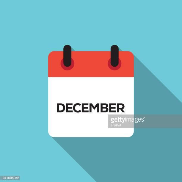 flat calendar design - december - october stock illustrations