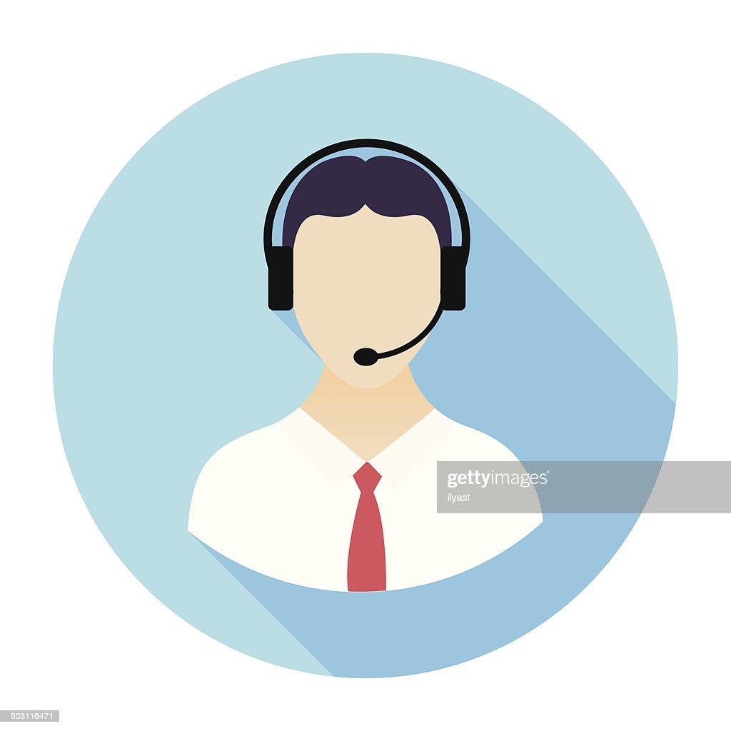 Flat Call Center Icon : stock illustration