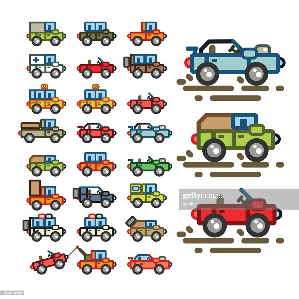 Flat cars for game application