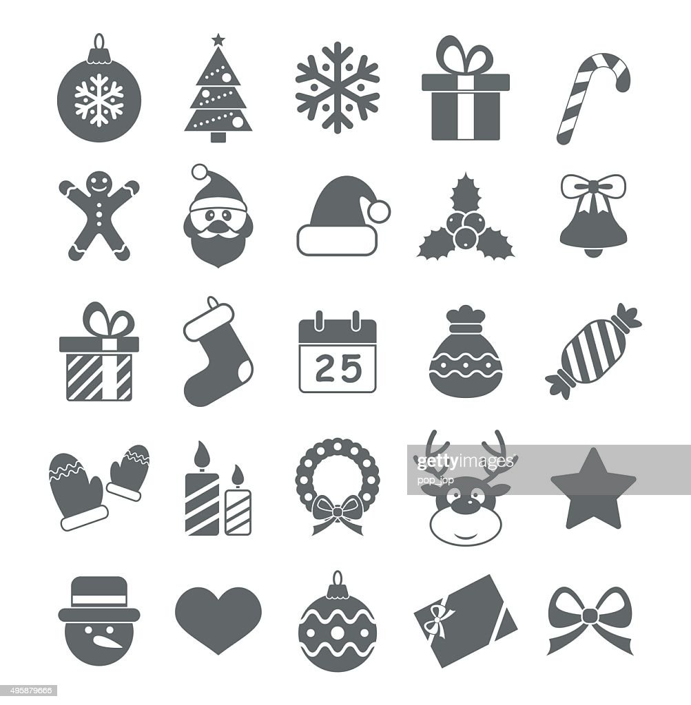 Flat Christmas Icons - Illustration