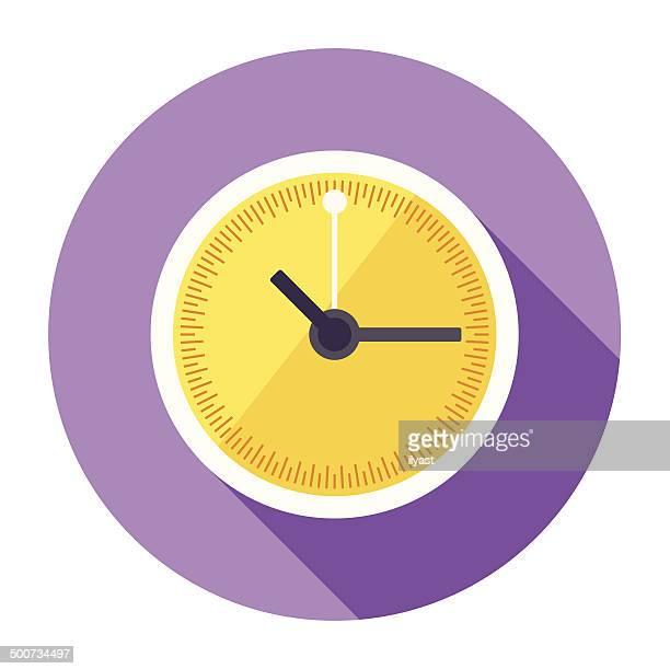 Flat Clock Icon