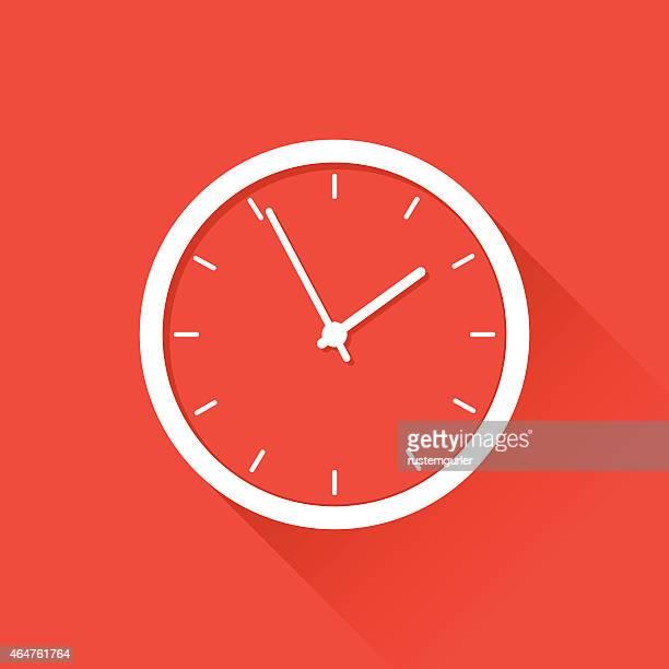 flat clock - clock stock illustrations
