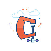 Flat Color Icon - Clamp tool