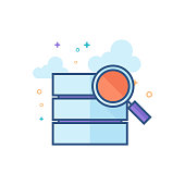 Flat Color Icon - Database search